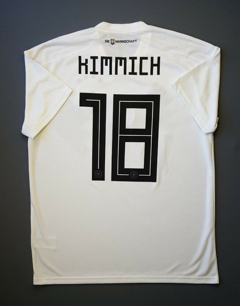 860aacce2 Details about 5+ 5 Germany  18 Kimmich 2018 Football Soccer Home Jersey  Shirt Size L Adidas