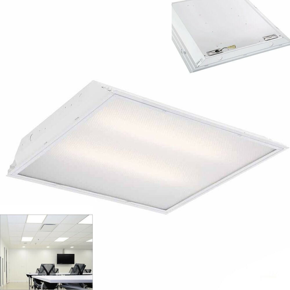 deb10aac267 Commercial LED Lighting 2 ft. x 2 ft. Prismatic Lens Grid Ceiling ..  Commercial LED Lighting 2 Ft X 2 Ft Prismatic Lens Grid Ceiling