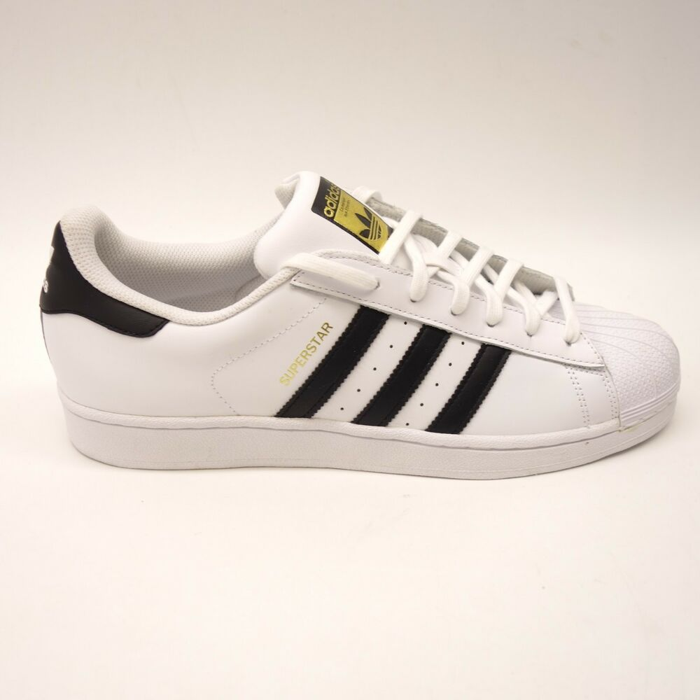 buy online 63632 91f21 Details about New Adidas Mens White Originals Superstar Sneakers Shoes  C77124 Size 12
