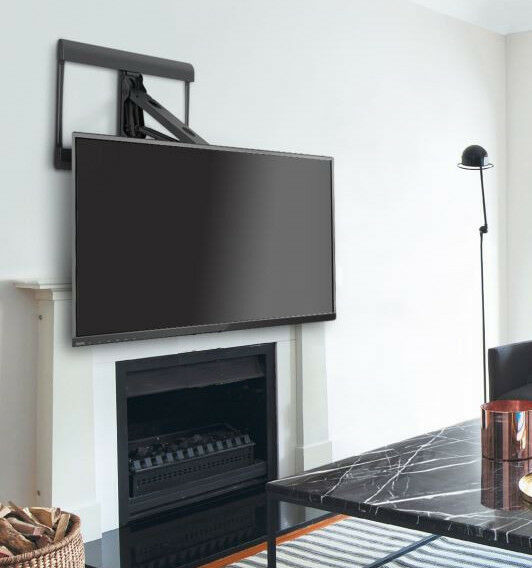 Details About Above Fireplace Over Mantel Pull Down Full Motion Tv Wall Mount For 42 To 70