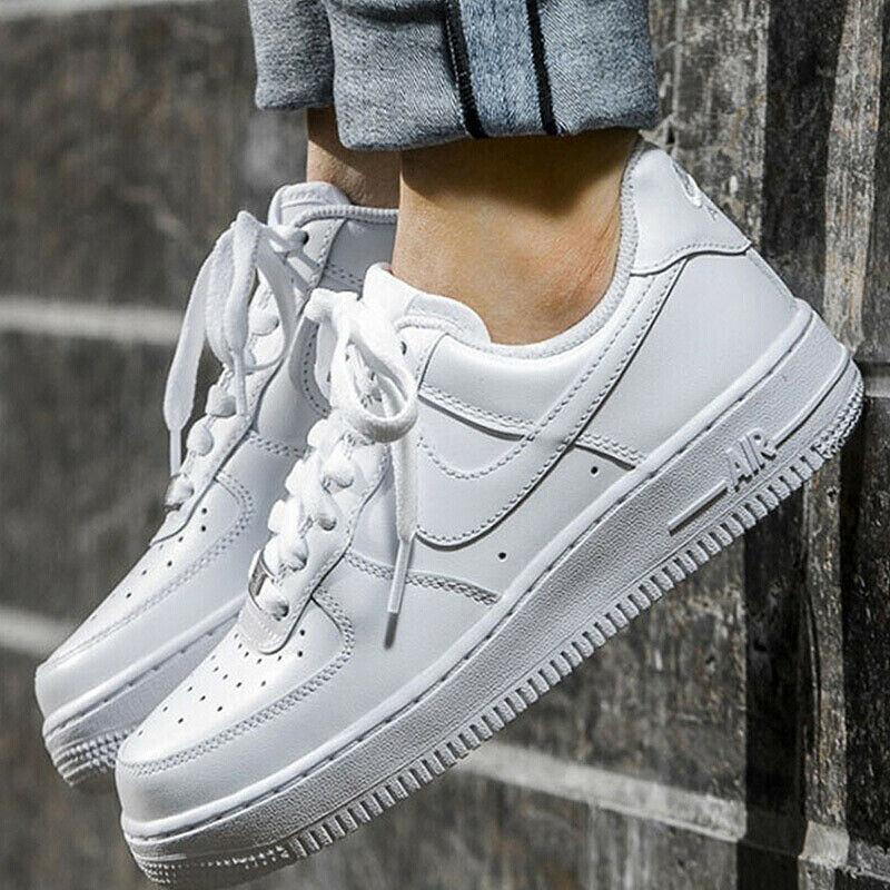 a5677b563f1 Details about Nike Air Force 1 Classic Triple White with Silver-Colored  Metal Men Women Pick 1
