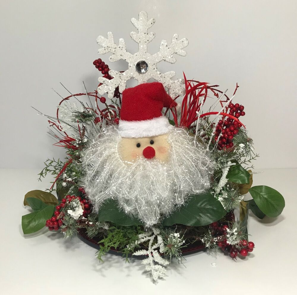 Santa Claus Decorations Uk: SANTA CLAUS CHRISTMAS CENTERPIECE HOLIDAY XMAS WHIMSICAL