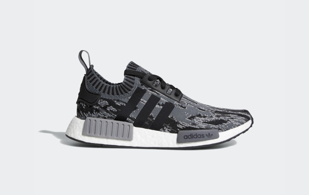 4939d2c18 ADIDAS NMD R 1 PK PRIMEKNIT BZ0223 GLITCH CAMO BLACK GREY WHITE SZ 7-13 DS  MEN