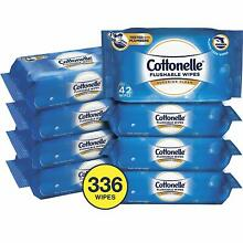Cottonelle Fresh Care Wavy Clean Ripple Flushable Wet Wipes 42 Count (Pack Of 8)