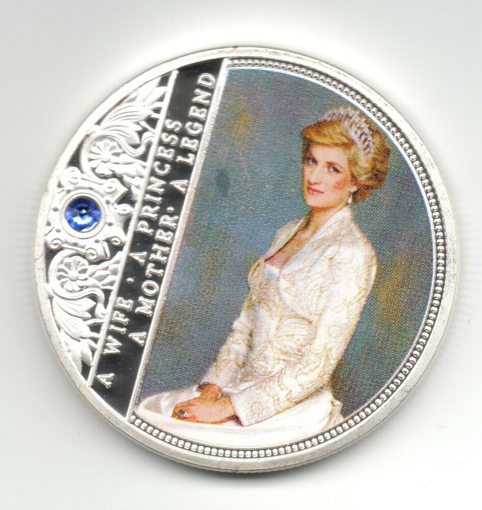 Princess Diana Silver Coin Legend Gem Painting Autograph William
