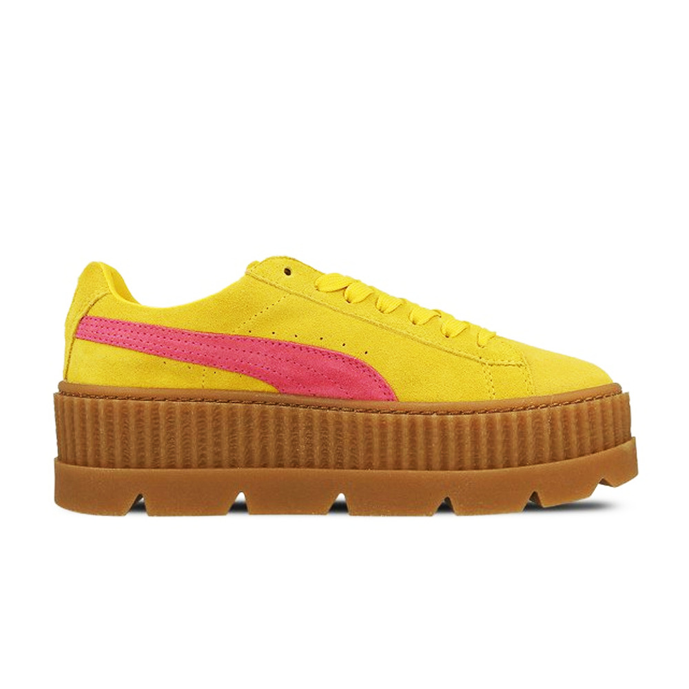 766711c74f73 Puma Rihanna X Fenty Lace Up Cleated Creeper Suede Womens Trainers