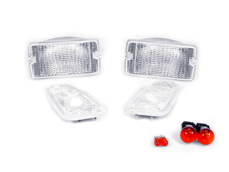 Depo Clear Bumper Signal Side Marker Lights For 1997