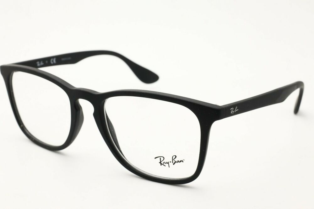 6828e14323e Details about Ray Ban RB 7074 Eyeglasses 5364 Black Rubber Frames 52mm NEW!