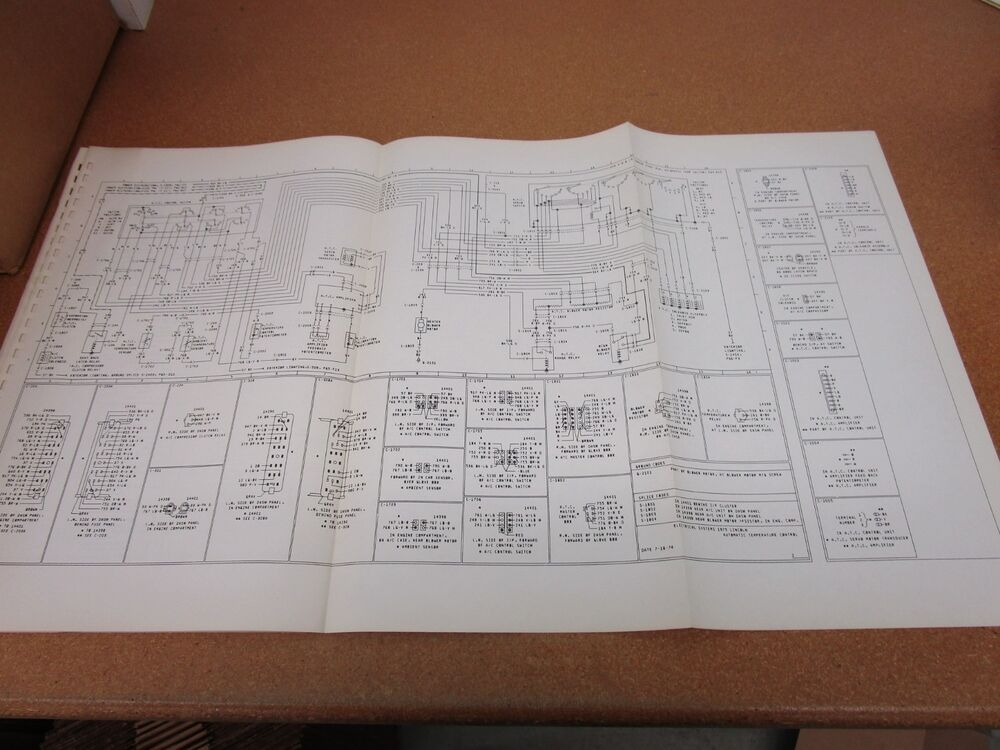 Original 1975 Lincoln Continental Wiring Diagram Sheet