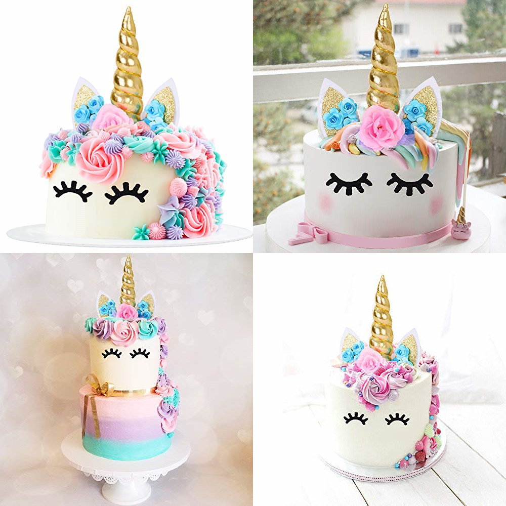 Details About Unicorn Cake Toppers 6 Pcs In Set Kids Birthday Party Decoration