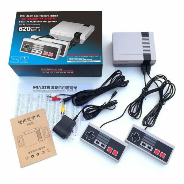 MINI RETRO GAME GAMING CONSOLE 620 GAMES RCA OR HDMI CHRISTMAS STOCKING STUFFER