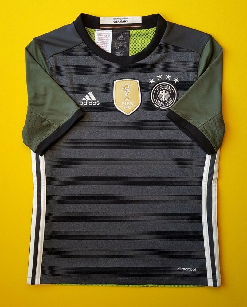 361162f5 Details about 5+/5 Germany DFB kids jersey 2016 2017 away shirt 11-12 years  soccer Adidas