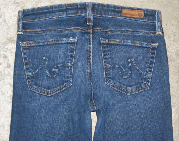 Ag Adriano Goldschmied The Angel Jeans Taglie 26 Basse Svasati Sdrucito