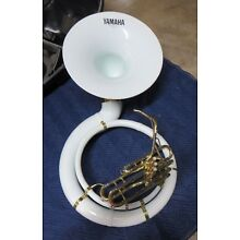 Yamaha White Sousaphone w/ Case, Just Serviced, Nice Horn! Ready to Play #YS01
