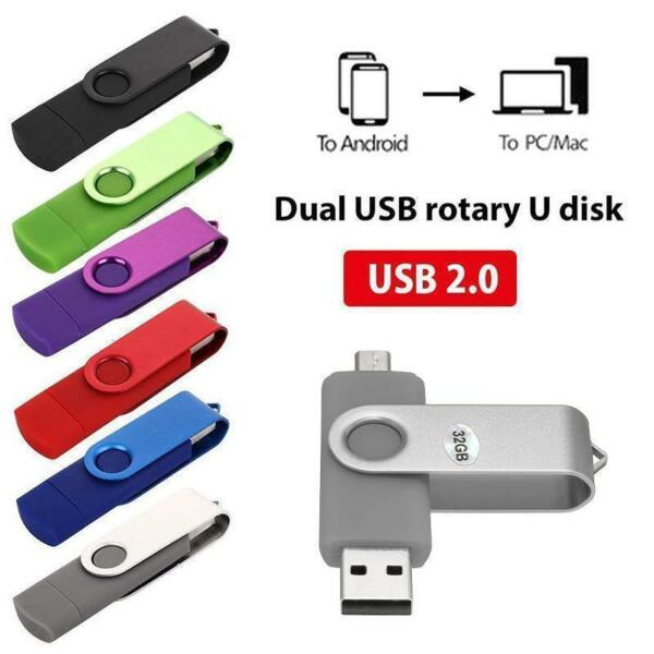 2in1 4 GB da 8 GB 64 GB Disco per chiavetta USB2.0 Flash Drive OTG per PC laptop