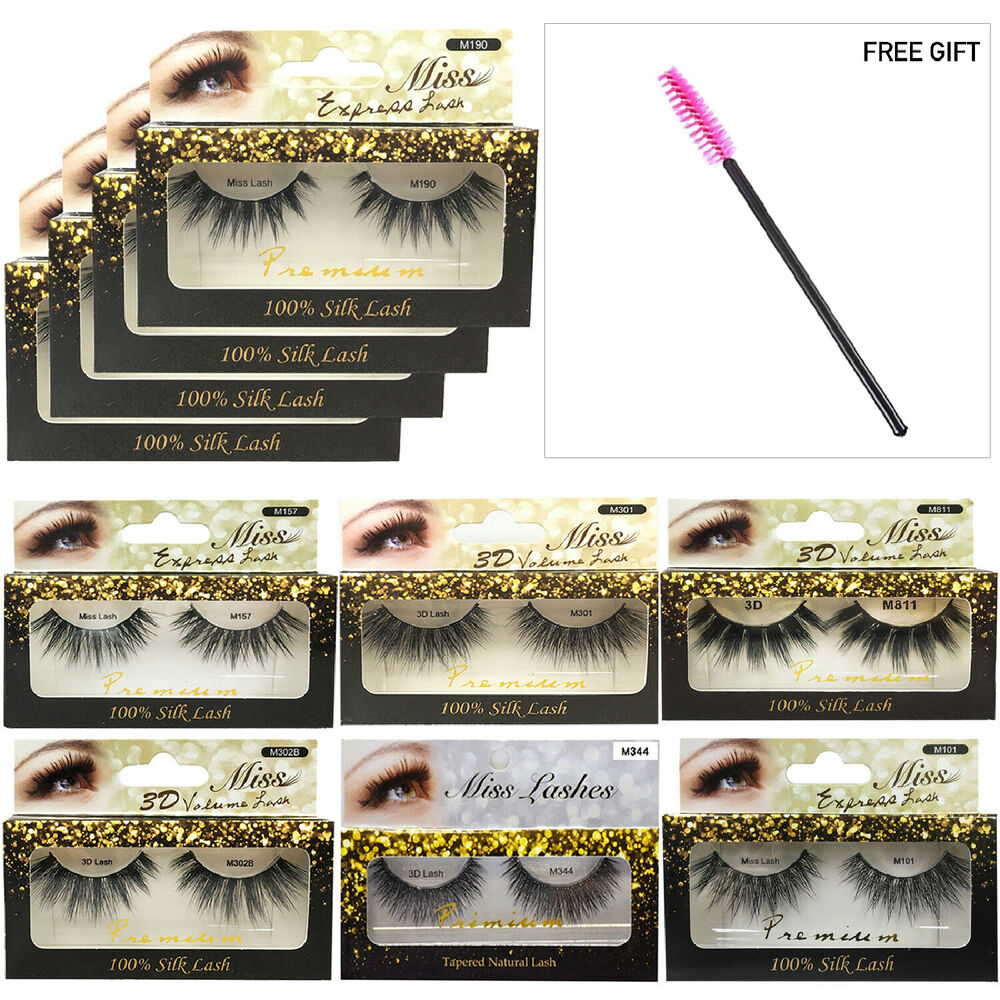 39d0a78b5ae MISS LASHES 3D Volume Tapered Natural Silk Eyelash Extension [4 PACKS]+FREE  GIFT | eBay