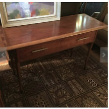 Rare Walnut Console Table with Drawer by Lane Vintage Mid Century Modern