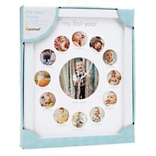 Pearhead My First Year Monthly Photo Baby Keepsake Frame, White (B1)