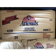 Vintage Attends Medium Smooth Plastic Backed Diapers -5