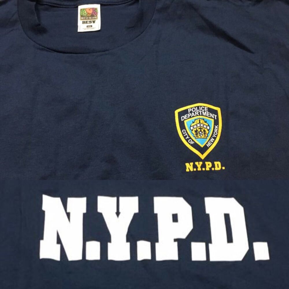 c4ccd8ea Details about NYPD BRONX BROOKLYN New York Police Department 3XL 9-11 T  Shirt VTG 2001 Sep.