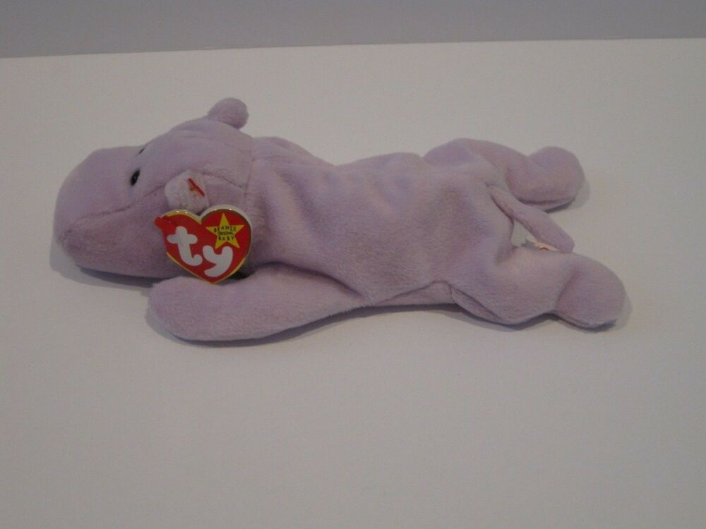Details about Ty Beanie Baby Happy Hippo Plush Stuffed Animal Retired W Tag  Feb 25 1994 0b05544ec708