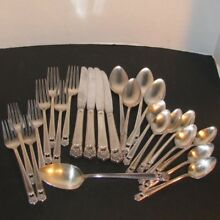 25 pcs Eternally Yours 1847 Rogers Bros Knife Fork Spoon Silverplate Vintage LOT