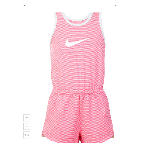 e2856351681f Details about New Nike Dri-FIT Girl s Sport Essentials Pink Romper SIZE  4