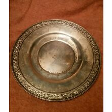 Large Antique Sterling Silver Wallace and Sons Plate.