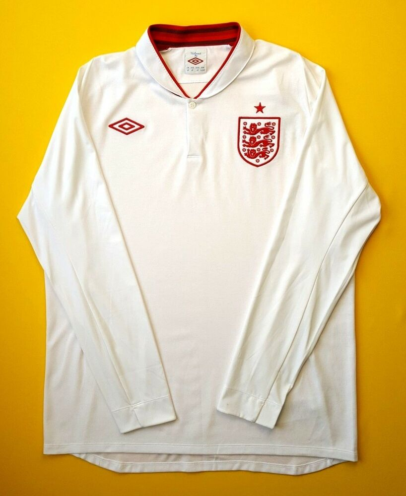 Details about 5+ 5 England soccer jersey s. 46 2012 home long sleeve shirt  football Umbro ig93 a8ffd0fa4