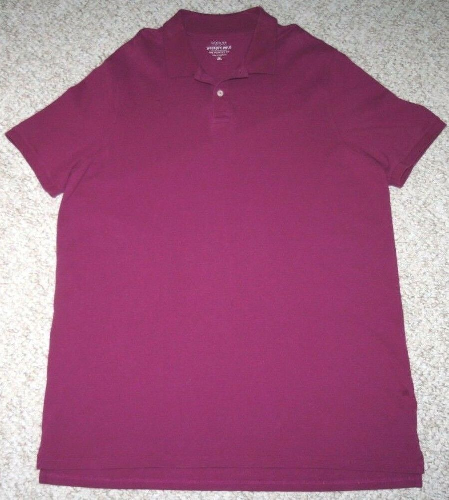 Xlt Purple Polo Shirt Sonoma Cotton Mens Extra Large Tall Solid