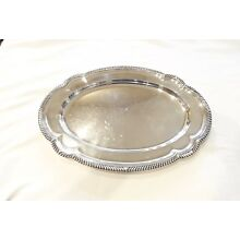 FABULOUS GORHAM ENGLISH GADROON STERLING SILVER SERVING PLATTER TRAY,18