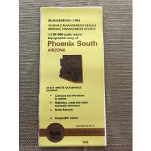 USGS BLM EDITION Topographic Map - PHOENIX SOUTH Arizona 1981