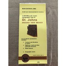 USGS BLM EDITION Topographic Map - ST. JOHNS Arizona/New Mexico 1981