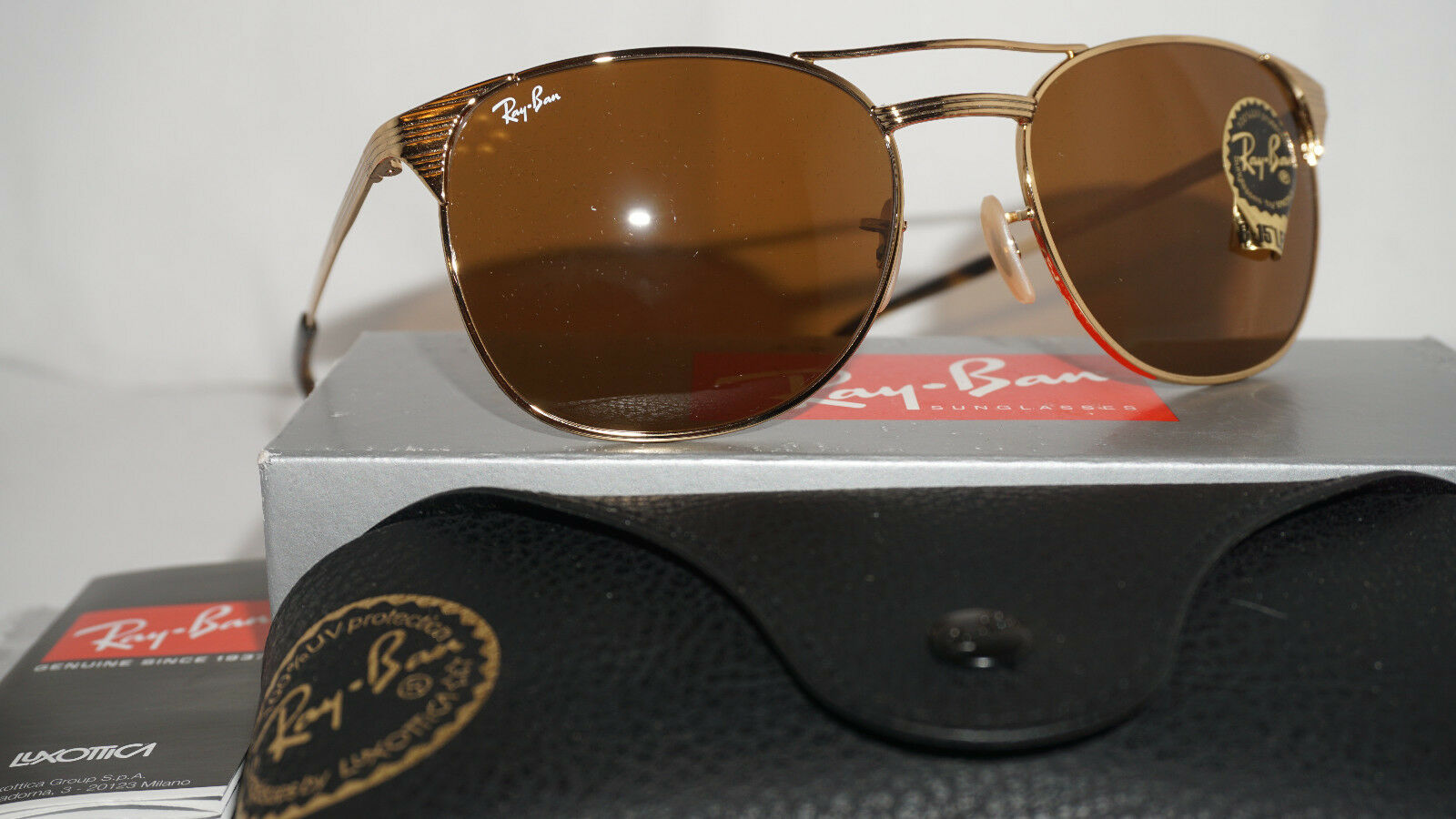 113d1b4469 ... EAN 8053672673654 product image for Ray Ban Sunglasses Signet Gold  Frame Rb 3429m 001 G- ...