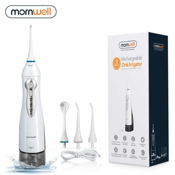USB Rechargeable Water Flosser 300ML Dental Water Jet Portable Charging 3 Nozzle