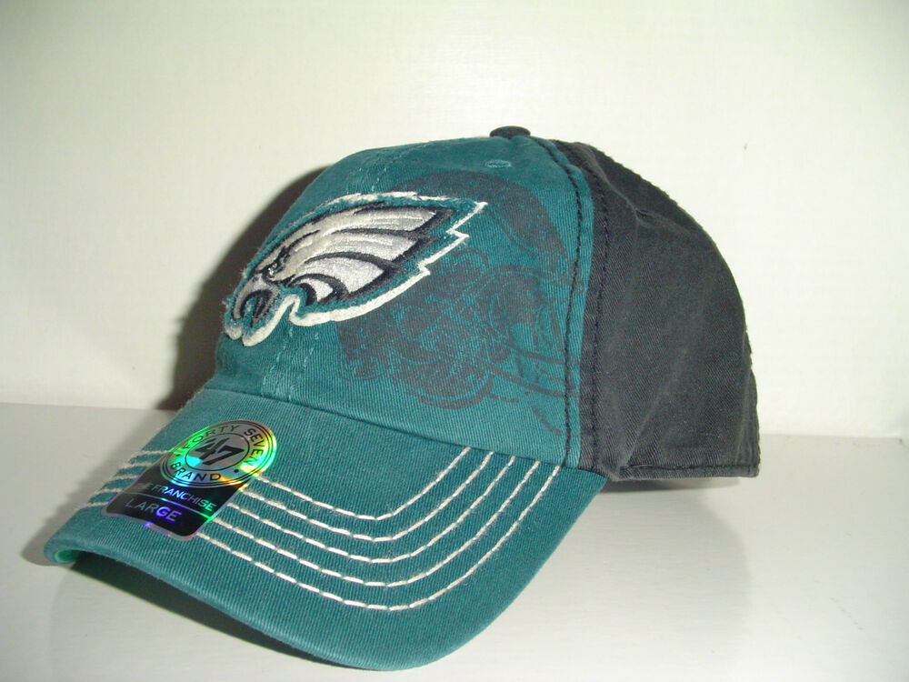 9be0a28d7 Details about SZ Large Philadelphia Eagles Football NFL Fitted 47 Brand Webster  Logo Green Cap