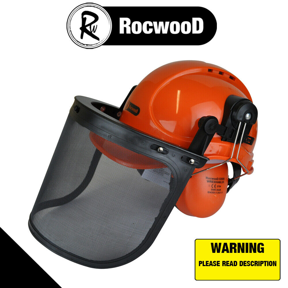 Details about Rocwood Forestry Chainsaw Safety Helmet Hat 4be836d02e75