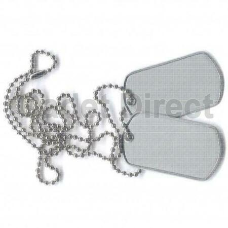 img-Military Dog Tag Set, Chrome