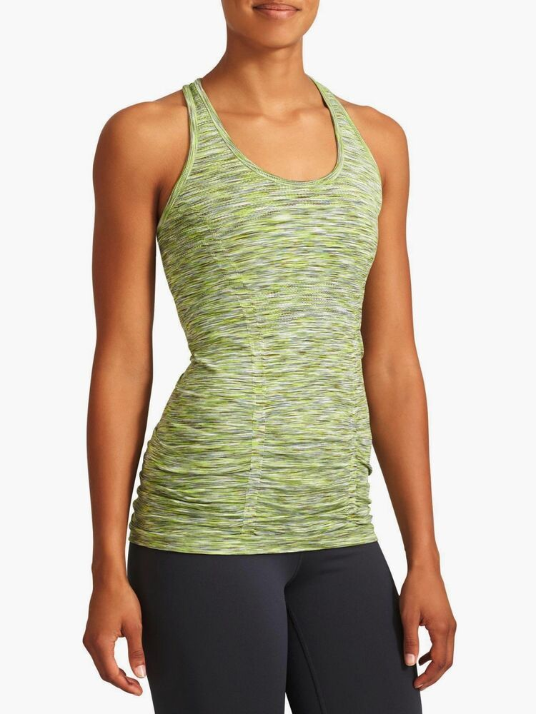 1da47b80b3291 Details about Athleta Seamless Fastest Track speedlight ruched athletic tank  top shirt gym XL