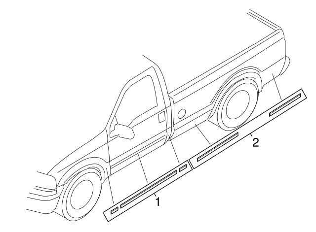 2005 2010 Ford Super Duty Oem Left Truck Bed Decal Stripe Tape