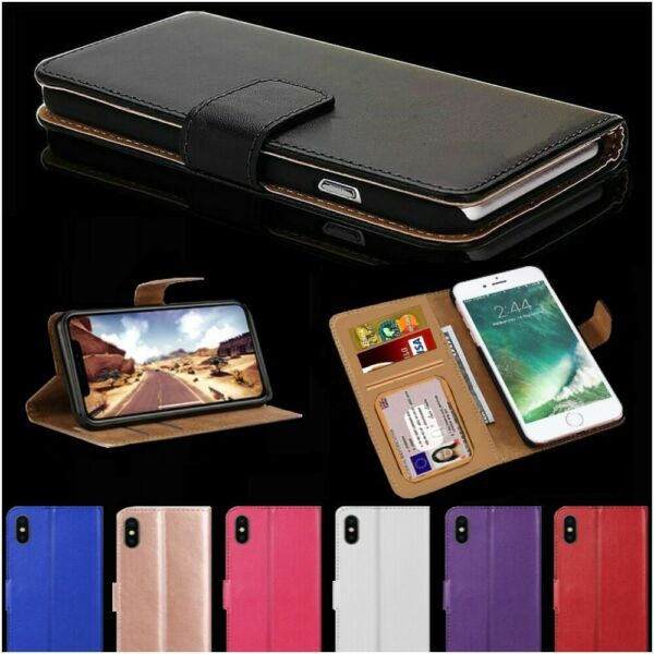 Case For iPhone 6 7 8 5s Plus XR XS Max Cover Flip Wallet Leather Magntic Luxury