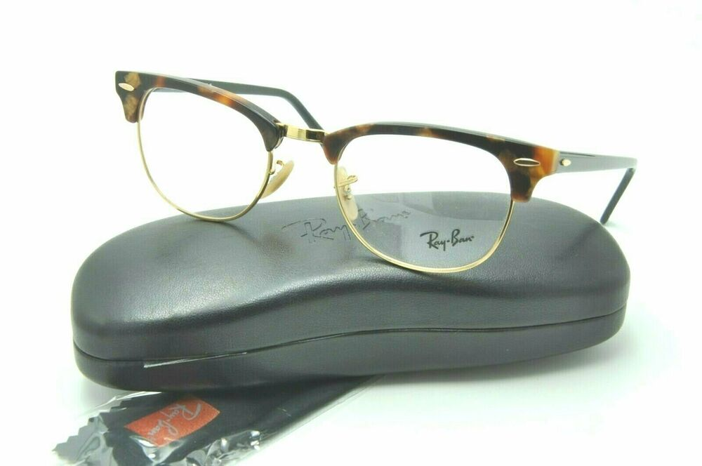 43b16c18fc5a7 Details about Ray Ban RB 5154 Clubmaster Eyeglasses 5494 Tortoise Gold  Frames 51mm + Case