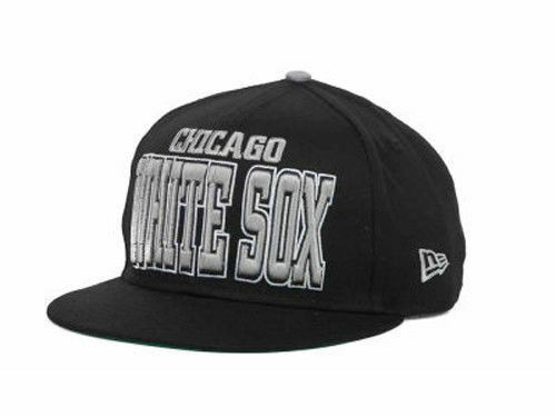 8e4c31e69 Details about Chicago White Sox New Era MLB Solid 9FIFTY Black Snapback Hat  Cap