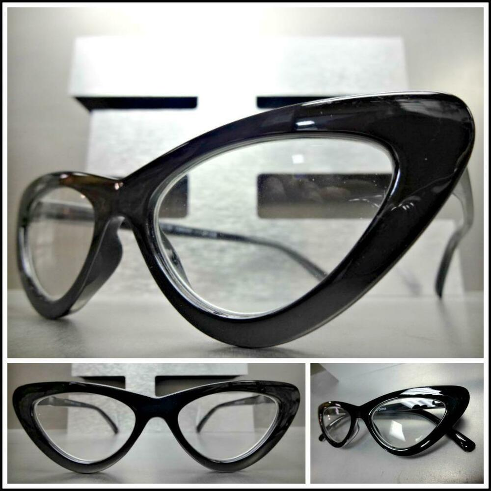b34892270707 Details about Women CLASSY Elegant Retro CAT EYE Style READING EYE GLASSES  READERS Black Frame