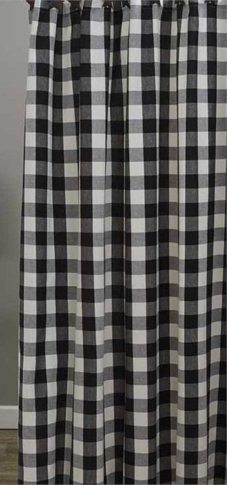 Details About Country Black Cream Wicklow Shower Curtain 72X72 Buffalo Check Cotton Farmhouse