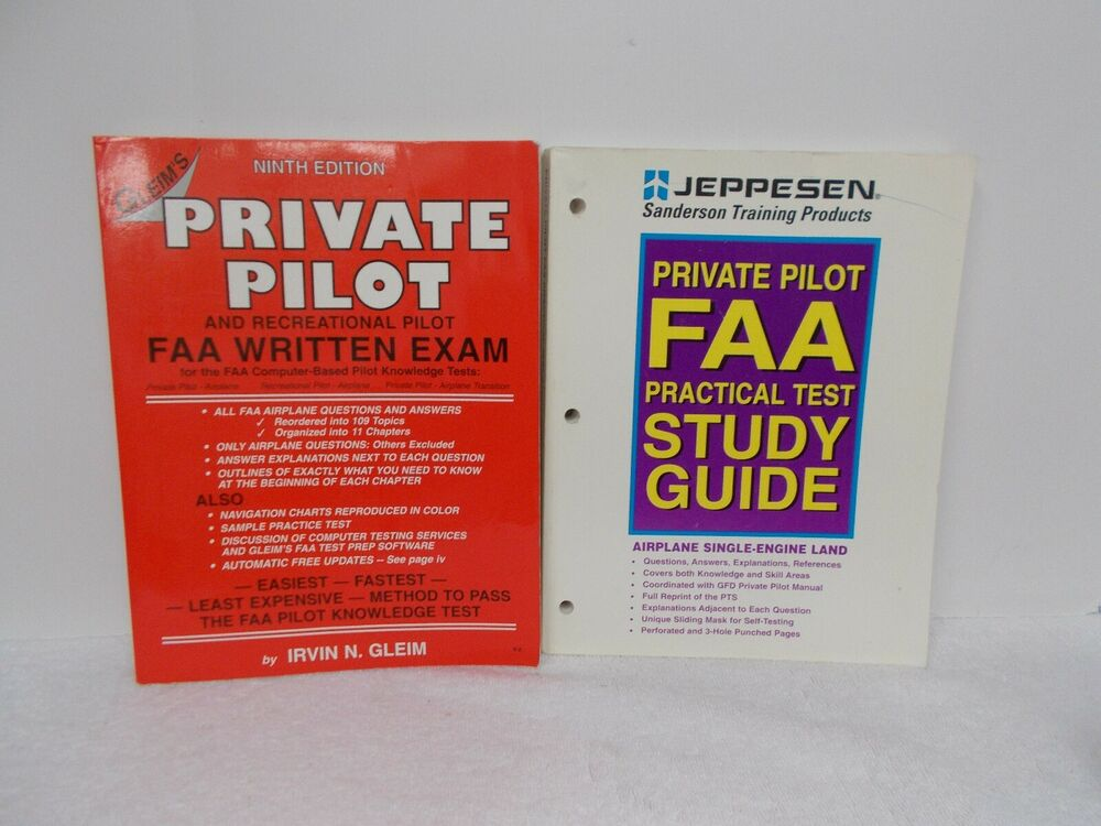 2 Books PRIVATE PILOT FAA STUDY GUIDE & FAA WRITTEN EXAM - Jeppesen - Gleim  | eBay
