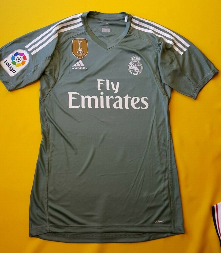 dc4c157542215 Details about 5+ 5 Real Madrid adizero jersey small 2018 shirt goalkeeper  B31100 Adidas ig93