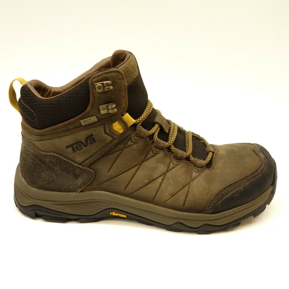 2c3cd09ef511 Details about Teva Mens Arrowood Riva Brown Event Mid Waterproof Hiking  Trail Shoes Size 9