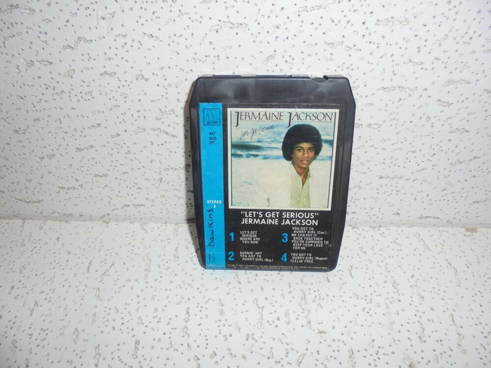 Details About Jermaine Jackson Lets Get Serious 8 Track Tape Cartridge WORKS