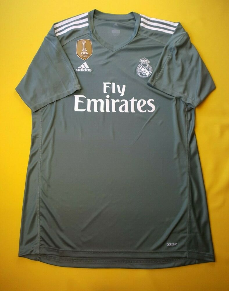 4bcba7b93 Details about 5+ 5 Real Madrid authentic goalkeeper jersey XL 2018 shirt  B31100 Adidas ig93